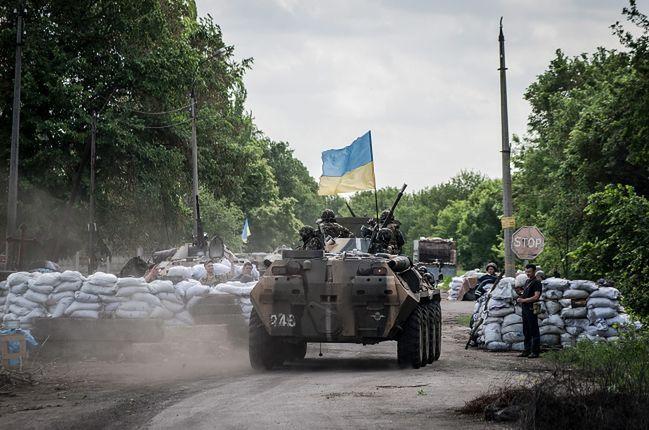 Konfikt na Ukrainie. Separatyści ostrzeliwują rządowe pozycje