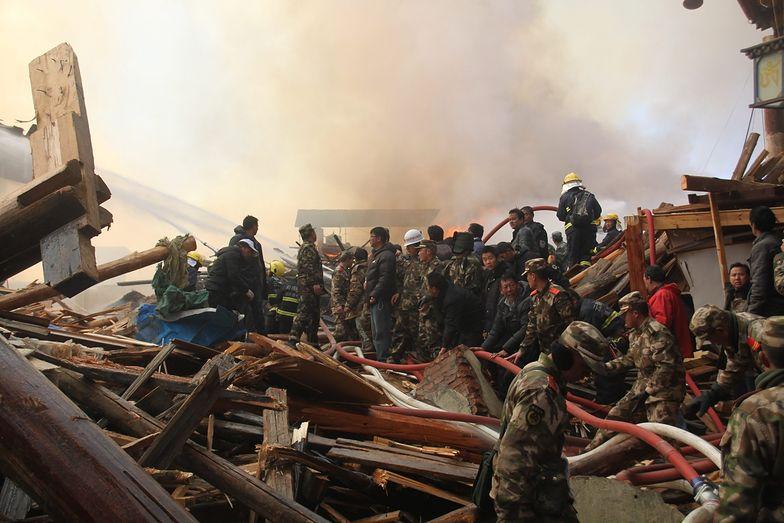 Chiny: Ujęto podejrzaną o spowodowanie pożaru w zabytkowym mieście