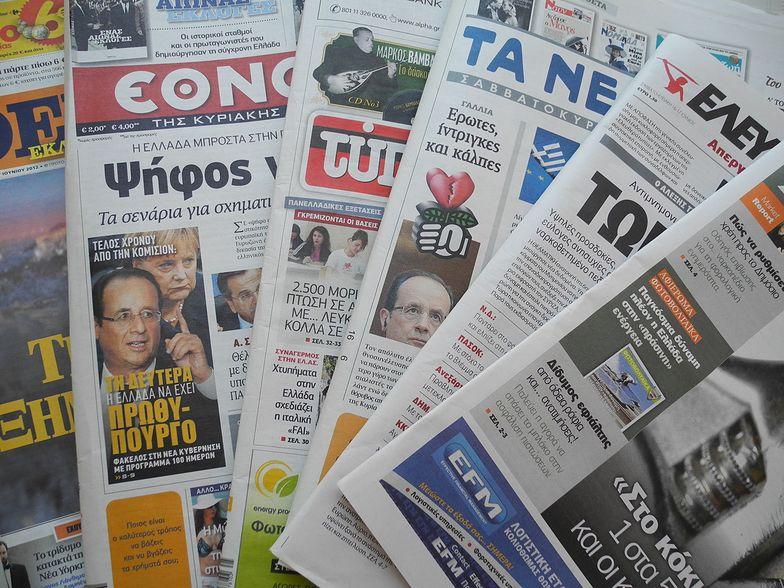 Wybory w Grecji okiem satyryków. Zobacz galerię