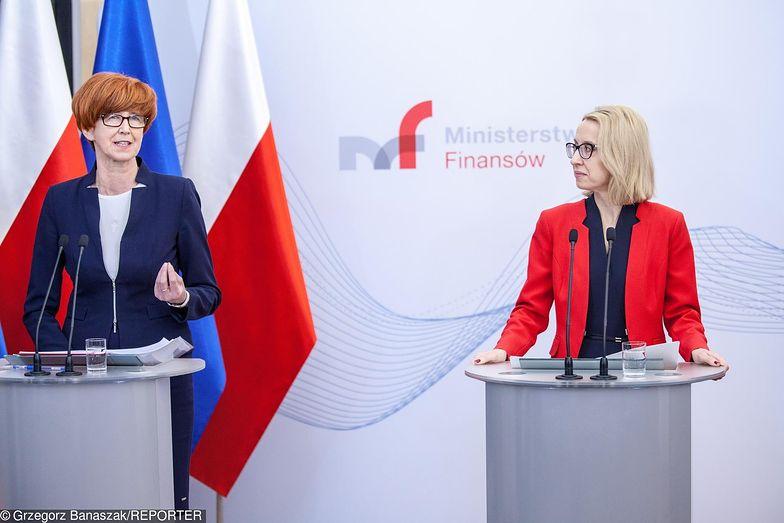O podatku solidarnościowym mówiły minister finansów Teresa Czerwińska i szefowa resortu rodziny Elżbieta Rafalska