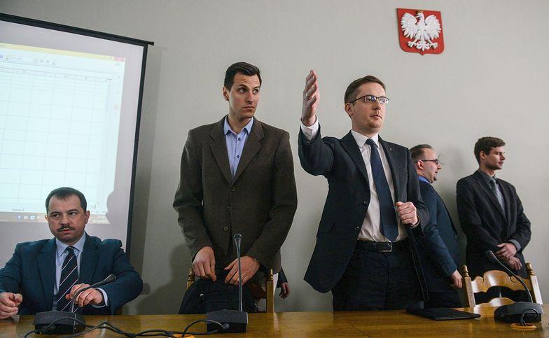 Piotr Głowacki i Robert Winnicki, szef Ruchu Narodowego