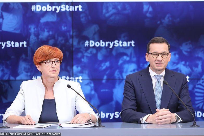 Minister Elżbieta Rafalska i premier Mateusz Morawiecki odpowiadają za sytuację na rynku pracy.