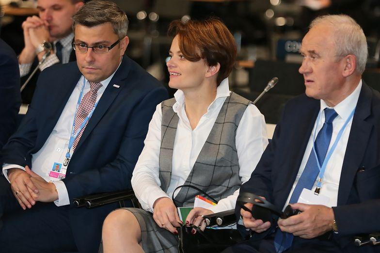 Jadwiga Emilewicz w towarzystwie ministra energii Krzysztofa Tchórzewskiego (po prawej).