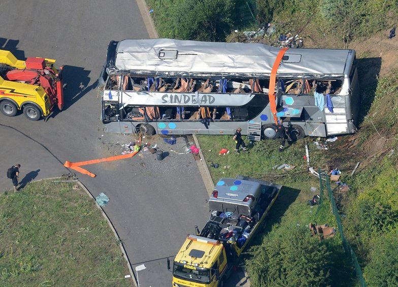 Wypadek polskiego autokaru pod Dreznem. Najnowszy bilans ofiar