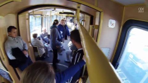 Kontroler krzyczał na pasażera