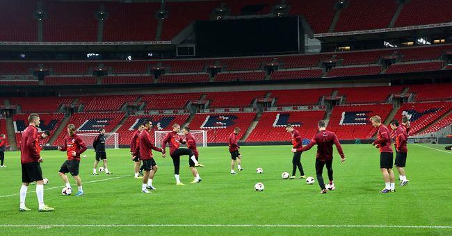 trening reprezentacji Polski na Wembley w Londynie