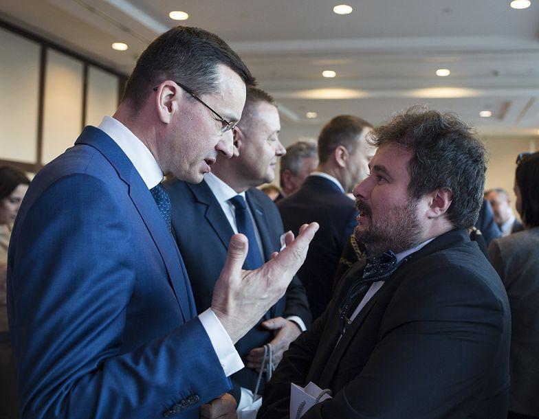 Na zdjęciu wicepremier Mateusz Morawiecki i prezes UOKiK Marek Niechciał