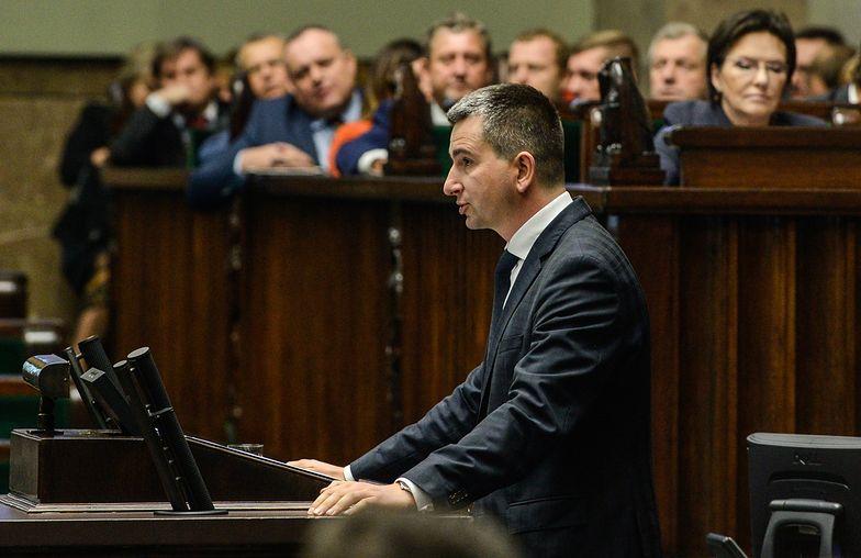 Mateusz Szczurek, minister finansów w Sejmie.