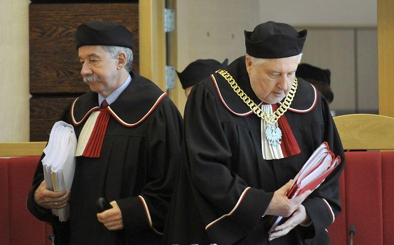 Prezes TK prof. Andrzej Rzepliński (po prawej).