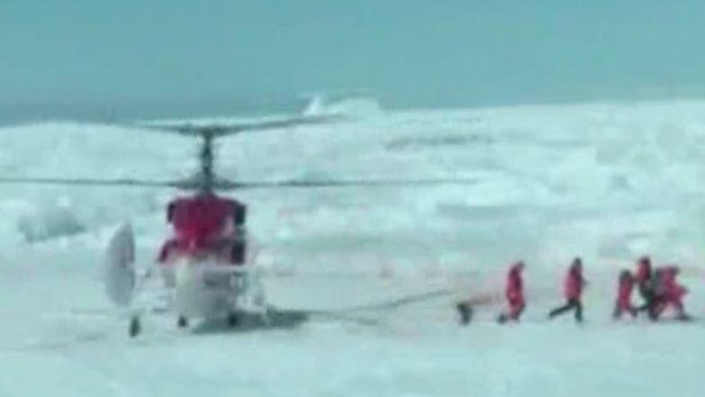 Akcja ratunkowa na Antarktydzie. Śmigłowiec ewakuował badaczy