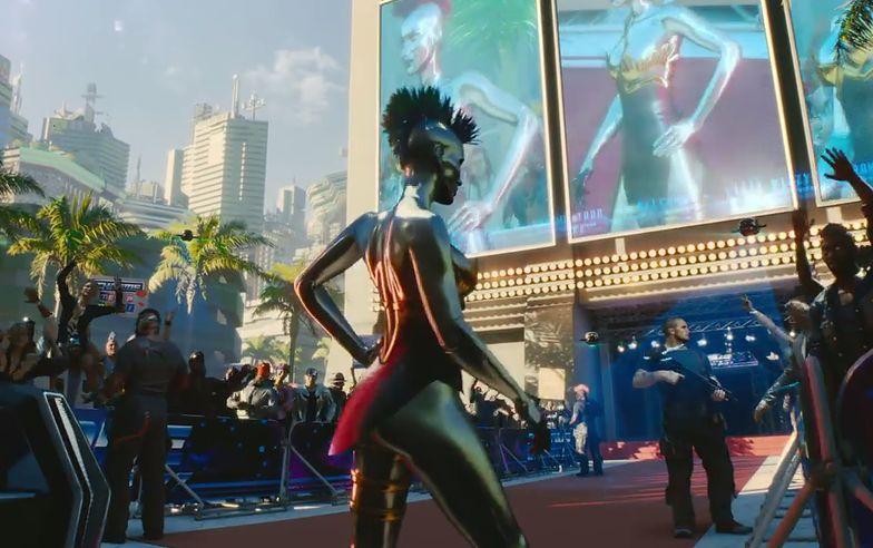 Gra Cyberpunk 2077 rozgrzała emocje na giełdzie i dała CD Projekt pozycję wicelidera wzrostów w Europie. Na zdjęciu kadr z trailera gry.