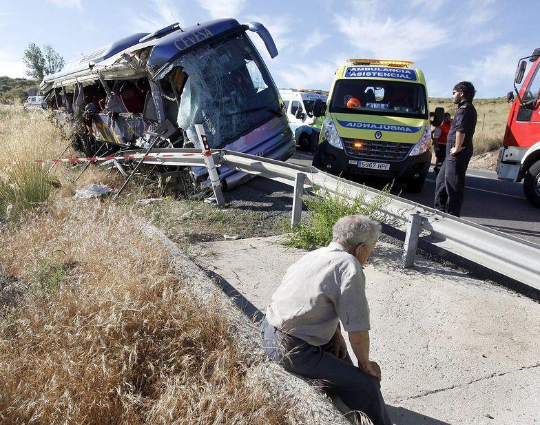 Tragiczny wypadek autobusu w Hiszpanii