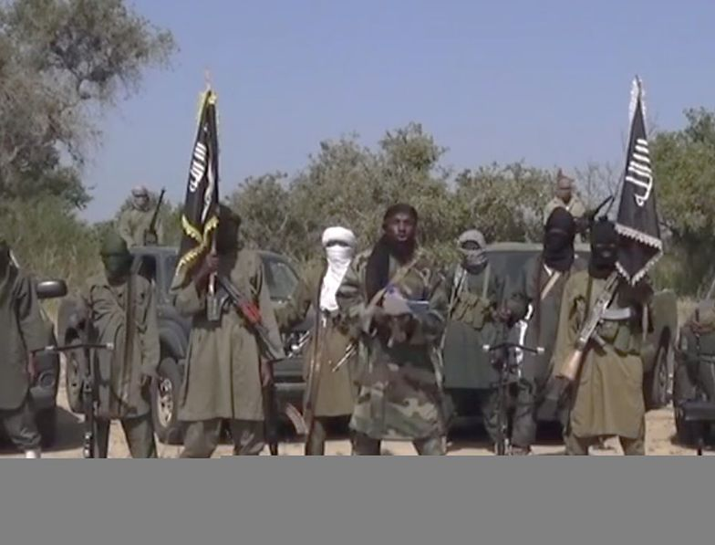 Grupa bojowników Boko Haram (zdjęcie z nagrania wideo).