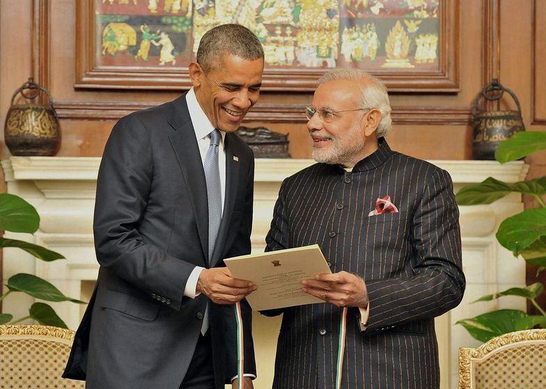 Barack Obama i premier Indii - Narendra Modi.