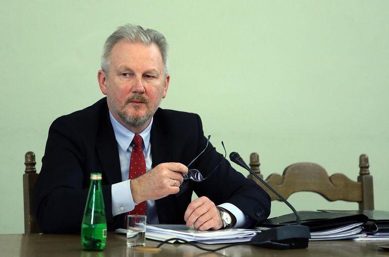 Wojciech Kwaśniak, na zdjęciu przed komisją śledczą ds. Amber Gold