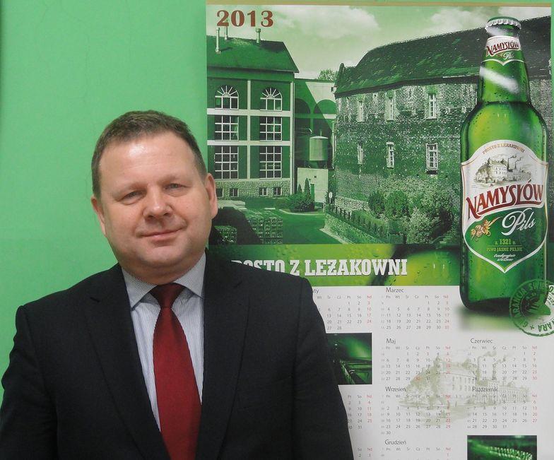 Czesław Szczepaniak, prezes Browaru Namysłów. Prawdopodobnie do czasu przejęcia przez Żywiec