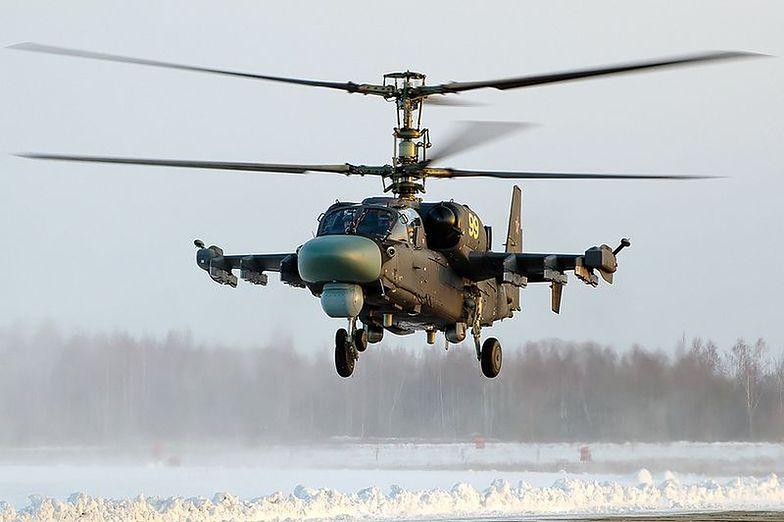 Śmigłowiec bojowy Ka-52 rozbił się na przedmieściach Moskwy