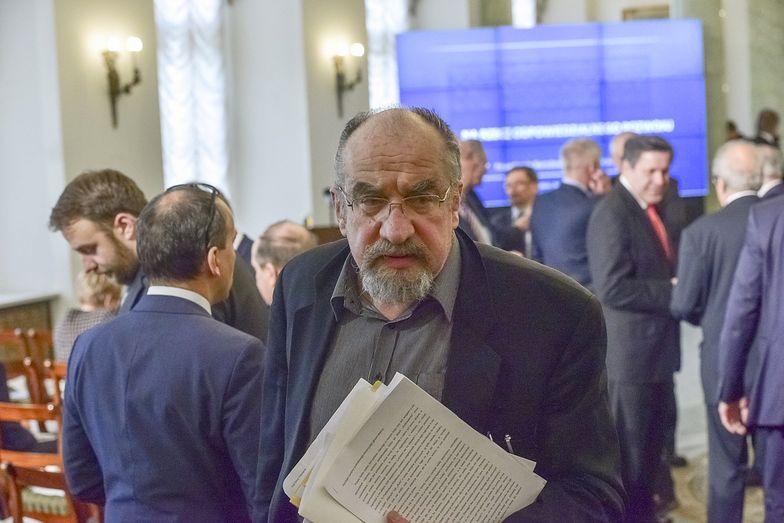 Siódmy marca 2016 roku, Warszawa. Prof. Modzelewski na IV posiedzeniu Narodowej Rady Rozwoju