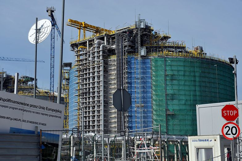 Ponad milion metrów sześciennych gazu przyjął terminal LNG