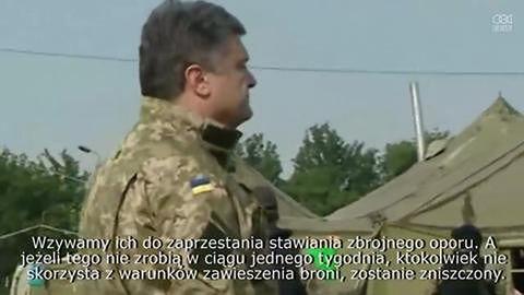 Poroszenko ogłasza tygodniowe zawieszenie broni we wschodniej Ukrainie