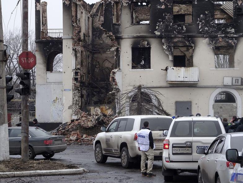OBWE ocenia zniszczenia po starciach w Debalcewie