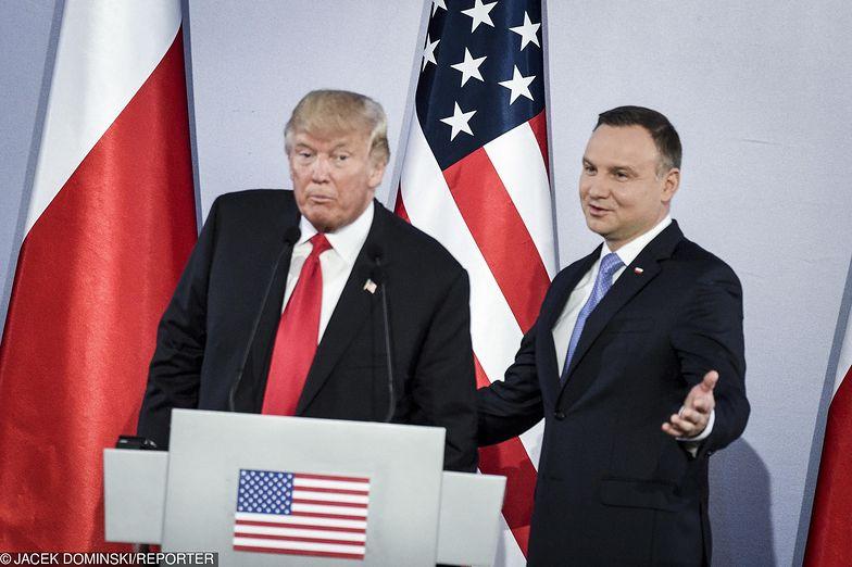 Spotkanie prezydentów Polski i USA w lipcu 2017 r.