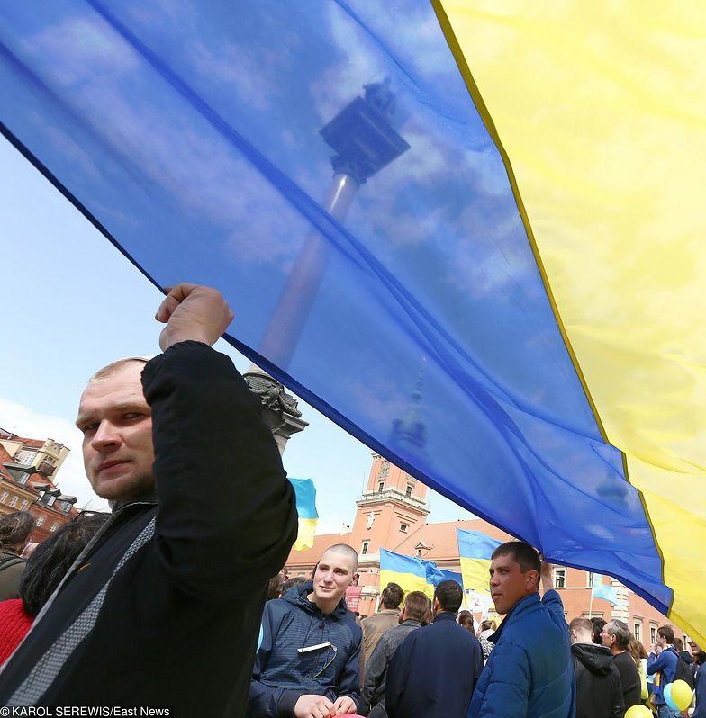 Druga edycja Polskiego Marszu Solidarnosci z Ukrainą w maju 2015 r. w Warszawie