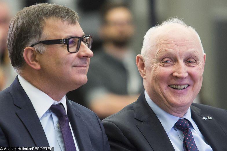 PKO BP zarządzany przez prezesa Zbigniewa Jagiełłę (z lewej), zdystansował na giełdzie PKN Orlen Wojciecha Jasińskiego (z prawej)