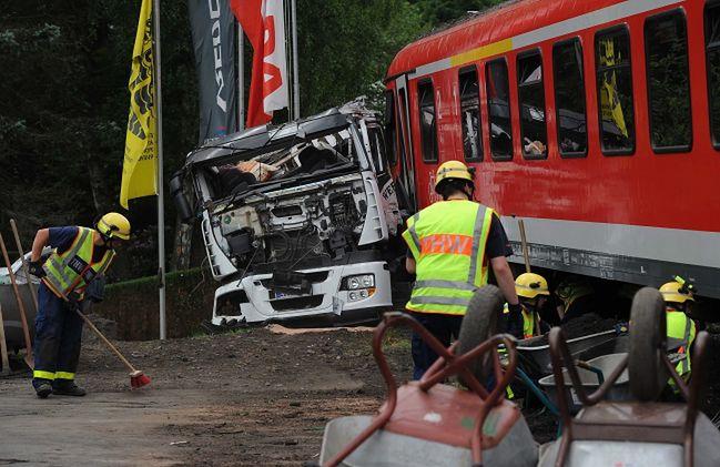 Niemcy. Katastrofa pociągu w Bad Laasphe
