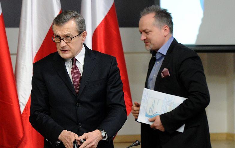 Czesław Warsewicz (z prawej) miał być ministrem w rządzie technicznym Piotra Glińskiego
