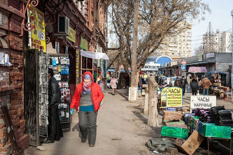 Handel uliczny w Astrachaniu