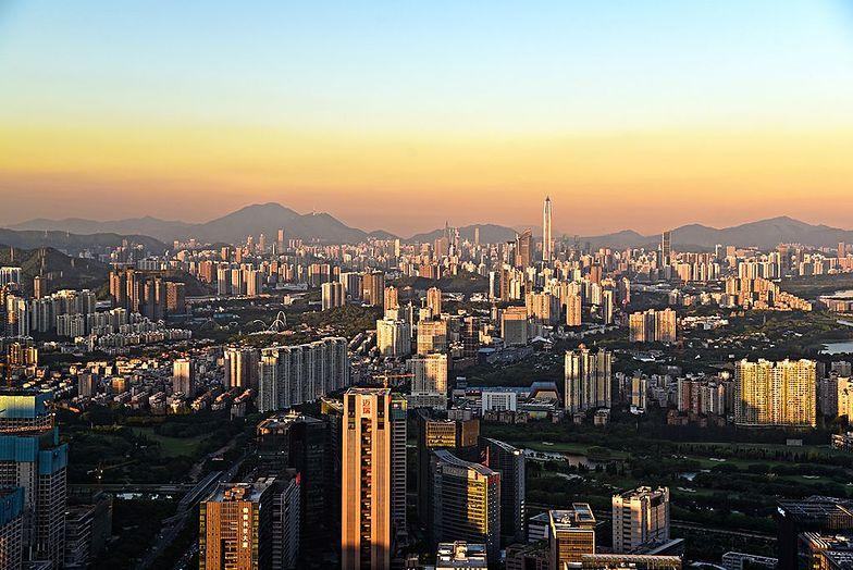 Panorama rekordowo drogiego Shenzhen