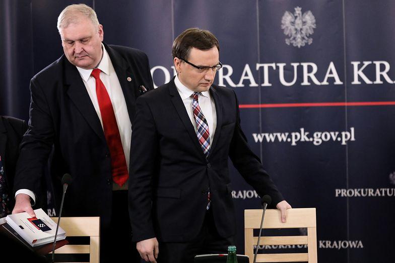 Prokurator krajowy Bogdan Święczkowski i minister sprawiedliwości Zbigniew Ziobro