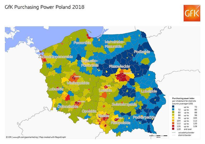 Wciąż widać różnice między Polską A i B