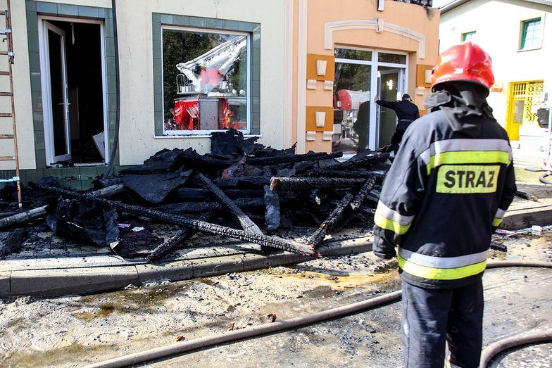 Pożar sklepów w centrum Włoszczowej