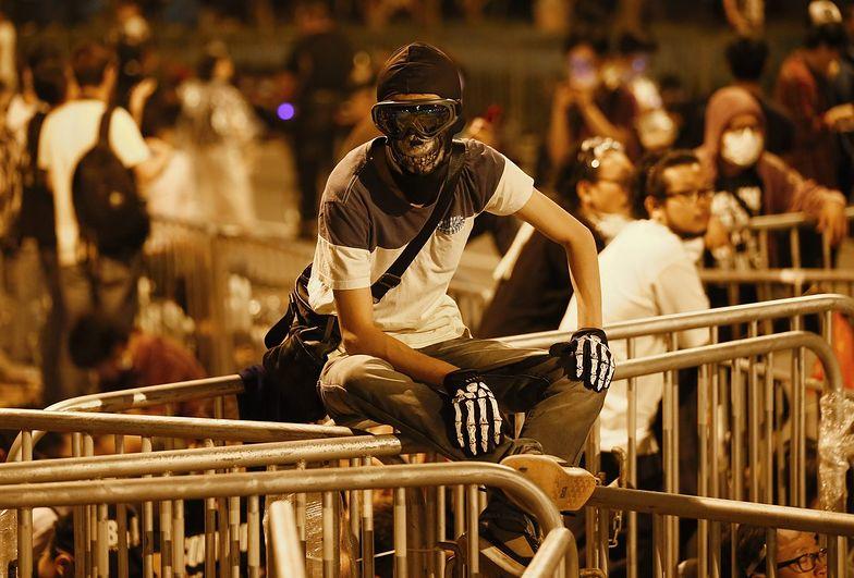 Protestujący z Hongkongu