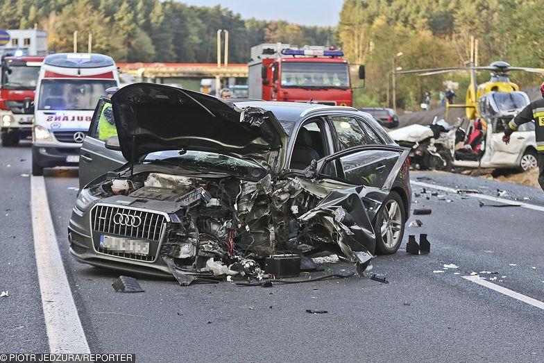 25.10.2017. Śmiertelny wypadek na drodze S3 koło Zielonej Góry.