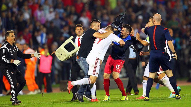 Skandal w Belgradzie na meczu Serbia-Albania