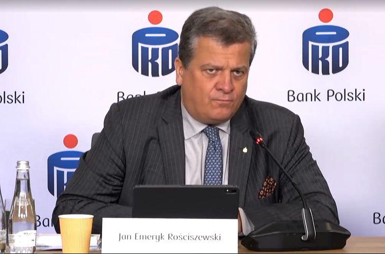 Jan Emeryk Rościszewski debiutuje w nowej roli. PKO BP mocniej wchodzi w ubezpieczenia