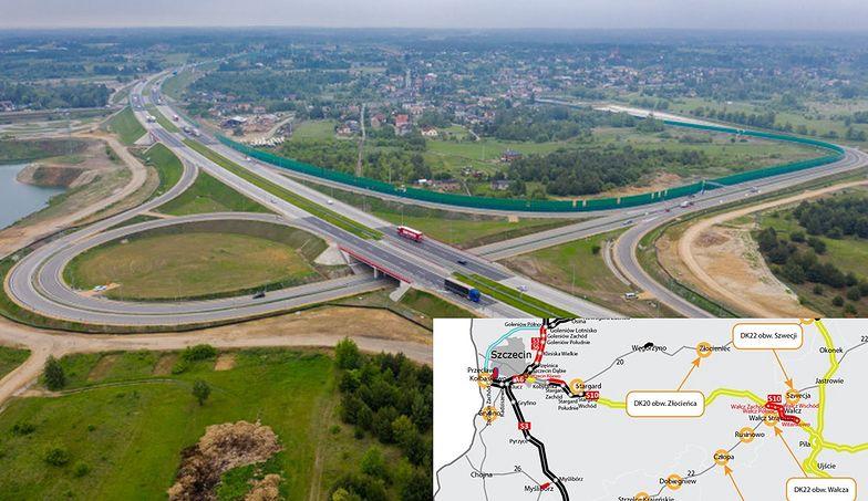 Ministerstwo infrastruktury zatwierdziło umowy na budowę 4 kolejnych odcinków omijających miasta.