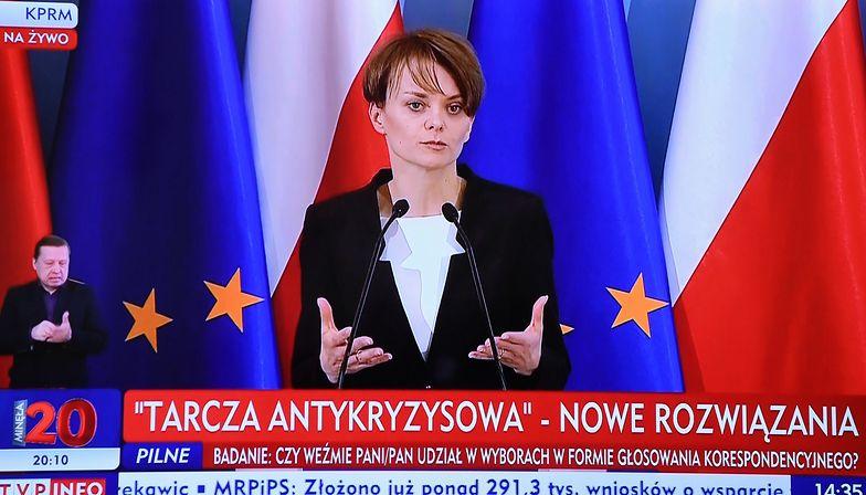 Minister Emilewicz zastrzega, że jeśli luzowanie życia społecznego i gospodarczego doprowadzi do zwiększenia liczby zarażeń, konieczny będzie powrót do restrykcji