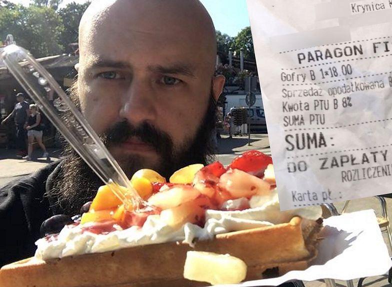 Zjadłem najdroższego gofra w Krynicy. Bita śmietana i owoce z puszki