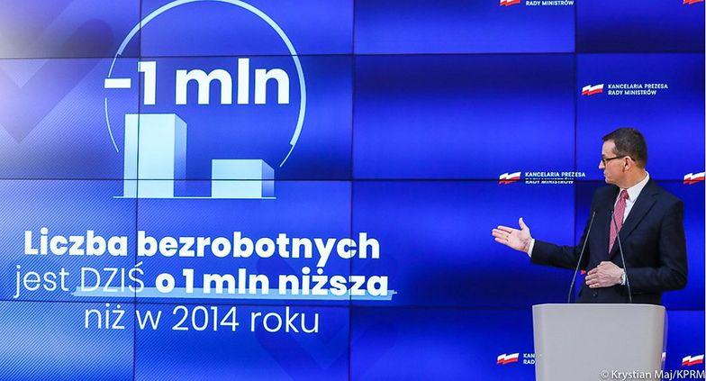 Mateusz Morawiecki odniósł się do środowych danych GUS na temat bezrobocia