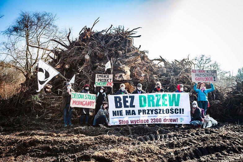 Kraków Nowa Huta Przyszłości. Rozpoczęła się wycinka drzew