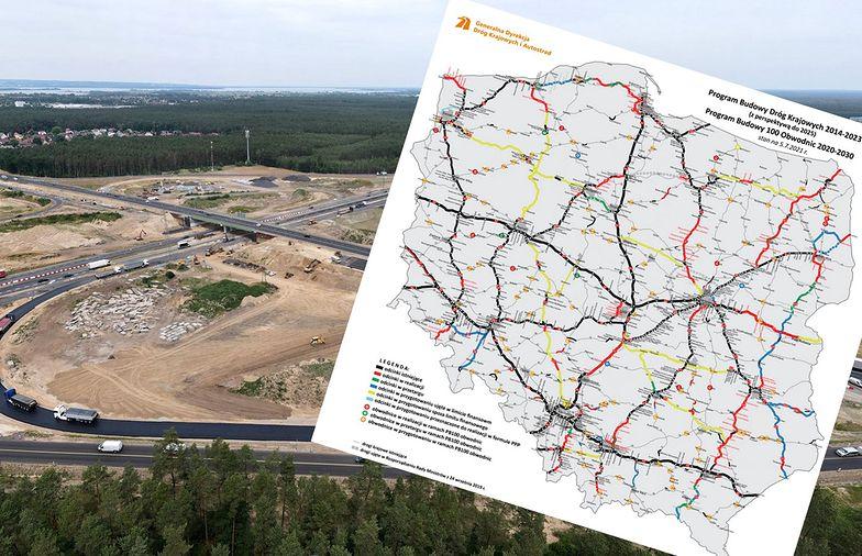 Budowa polskiej sieci dróg. Powstaje ponad 1,5 tys. nowych kilometrów