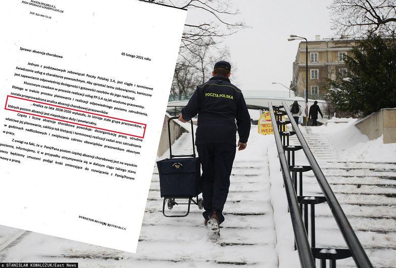 Zwolnienia z powodu L4? Poczta Polska na tropie symulantów
