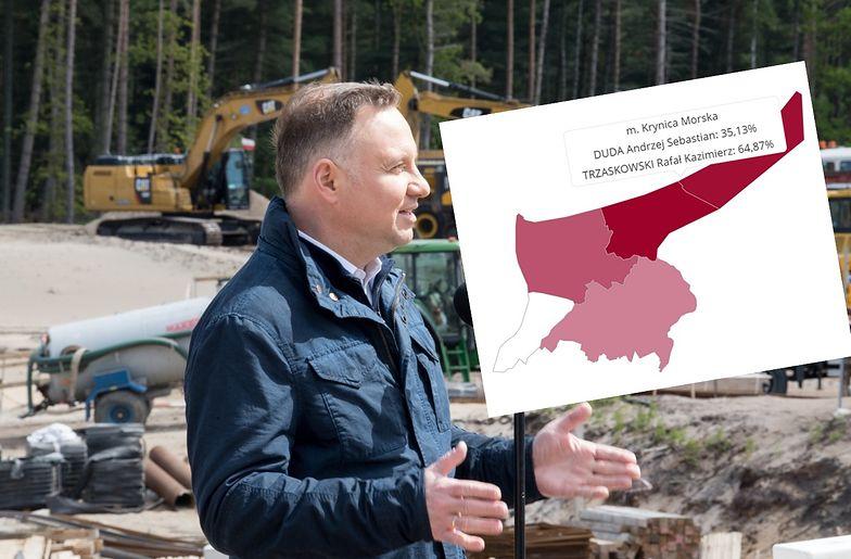 Pod koniec maja prezydent Andrzej Duda odwiedził budowę przekopu Mierzei Wiślanej. Jak na tę inwestycję reagują mieszkańcy? Wyniki wyborów nie pozostawiają złudzeń.