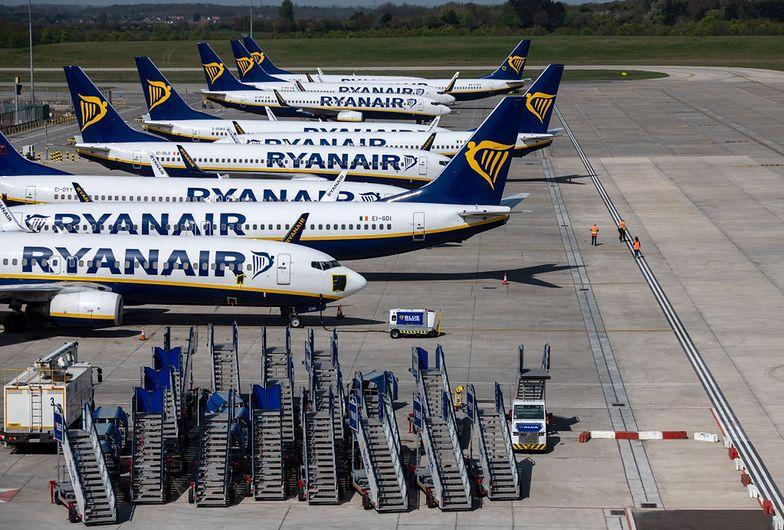 Koronawirus. Samoloty Ryanaira są obecnie w większości uziemione przez pandemię.