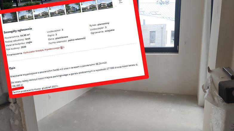 Mieszkanie za 300 tys. zł, taras za 200 tys. Klienci w szoku, branża - niekoniecznie