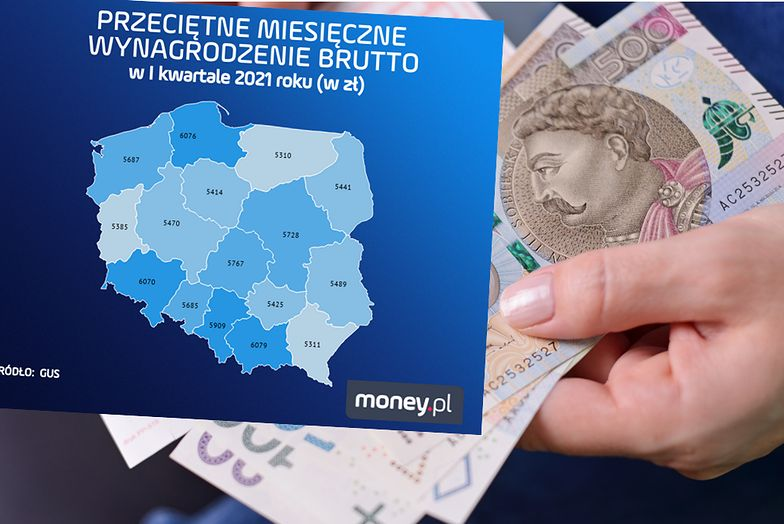 Mapa zarobków. Gdzie w Polsce pensje są najwyższe?